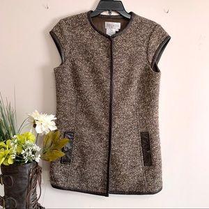 Worth Brown Vest - Size 8